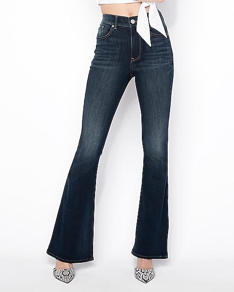 e91e354c001 High Waisted Bell Flare Jeans