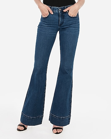 babcc818bcc90 Express View · mid rise denim perfect bell flare jeans