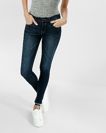 petite mid rise dark stretch jean leggings