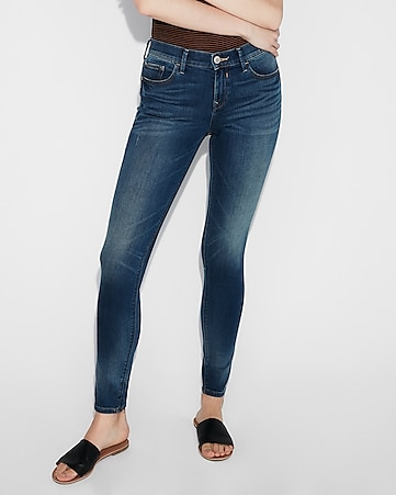 eco-friendly mid rise stretch jean leggings