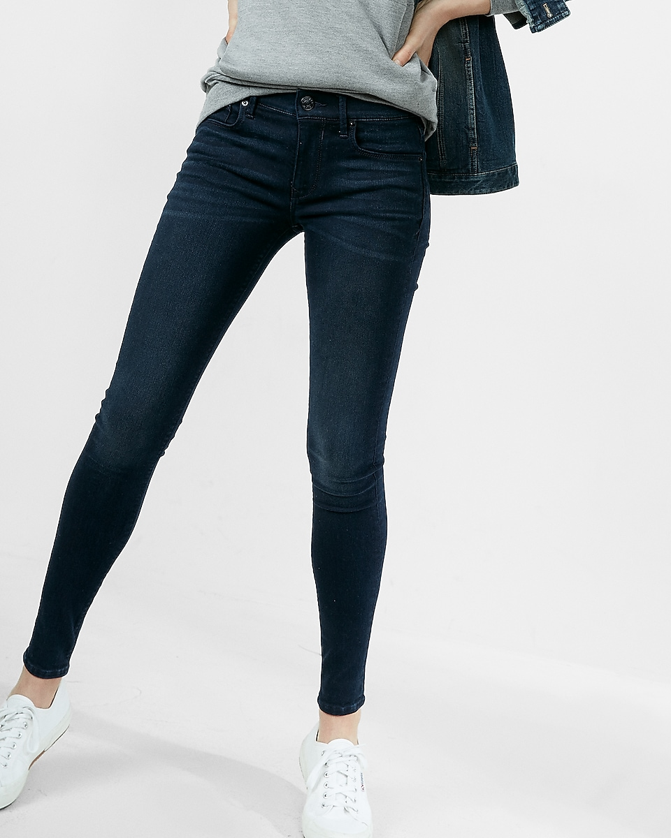 722cd60cd77ea9 Express View · mid rise dark wash jean leggings