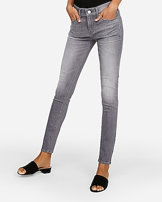 petite mid rise gray stretch jean leggings