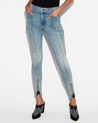 Eco Friendly High Waisted Stretch Cargo Jean Leggings by Express
