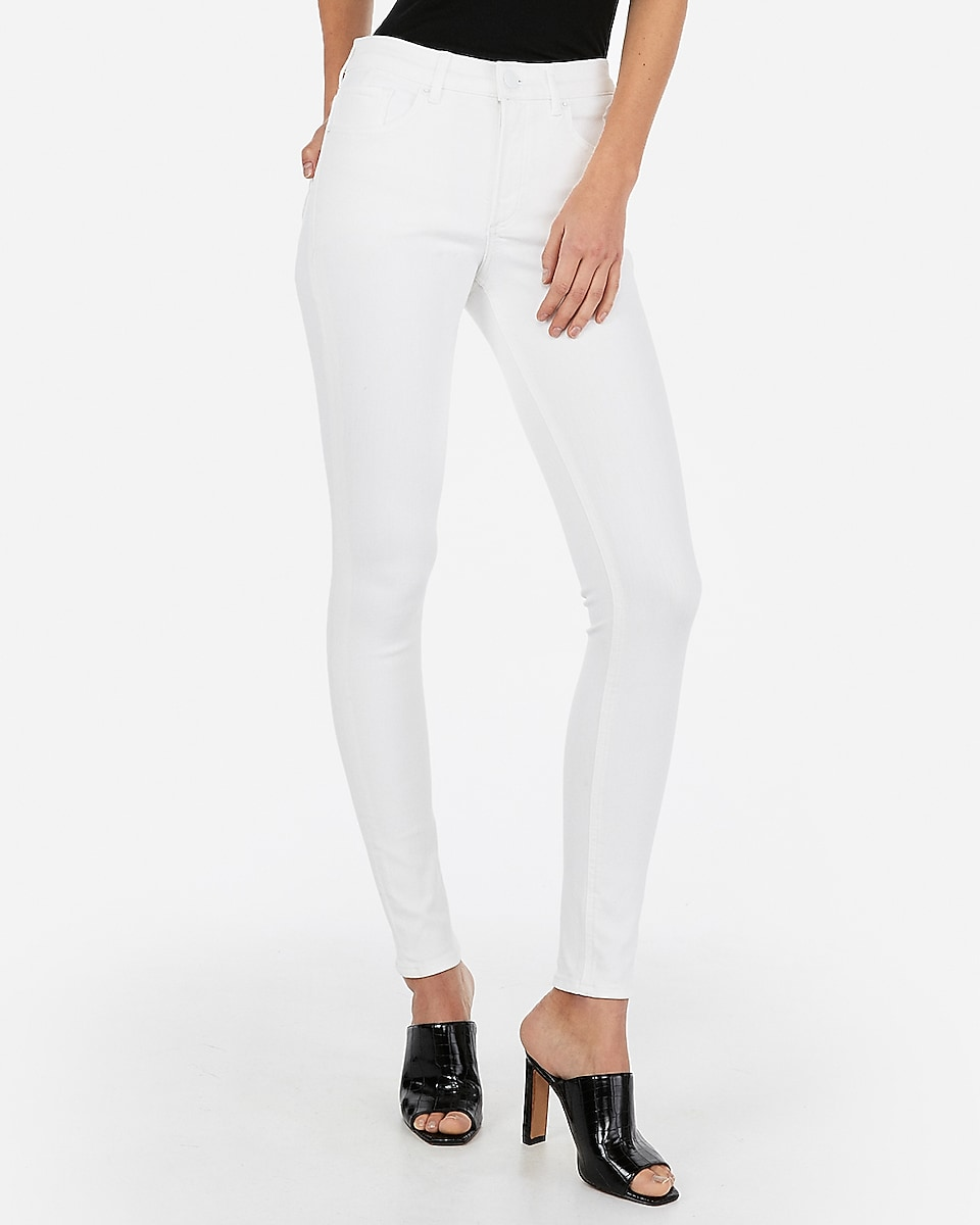 Petite high waisted denim perfect white jean leggings