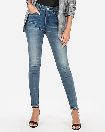 ec95582e6ee2ad Express View · high waisted denim perfect curves jean leggings
