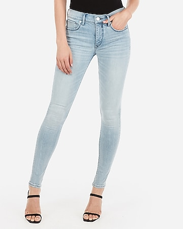 mid rise denim perfect light wash leggings