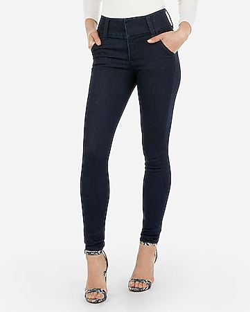 high waisted denim perfect wide waistband jean leggings
