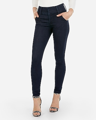 Petite high waisted denim perfect wide waistband jean legging