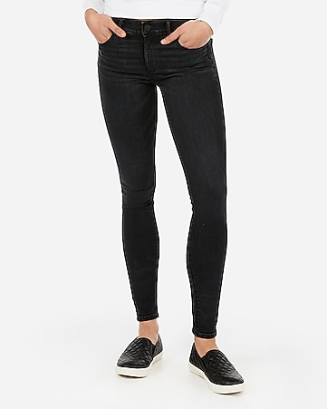 mid rise denim perfect lift black leggings