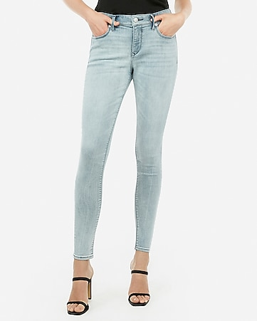 mid rise denim perfect curves light wash leggings