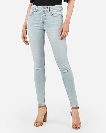 mid rise denim perfect lift button fly ankle leggings