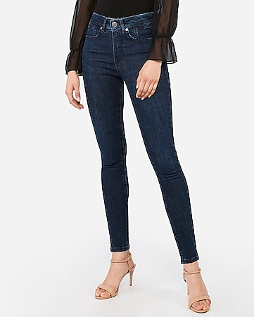 high waisted denim perfect lift dark wash ankle leggings