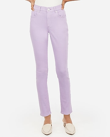high waisted lilac jean leggings
