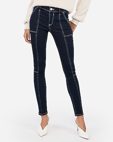 mid rise denim perfect seamed ankle leggings