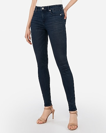 mid rise denim perfect lift dark wash leggings