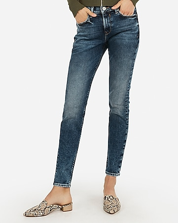 mid rise original faded jean leggings