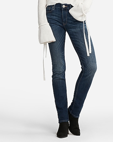 mid rise medium wash stretch skinny jeans