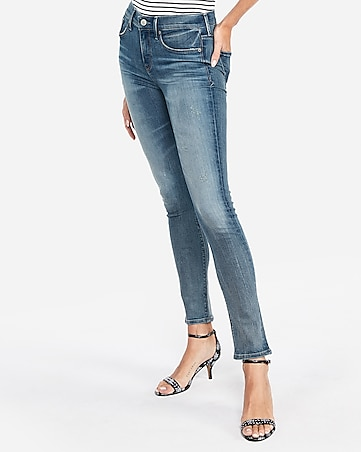 158840c2c1 Express View · mid rise denim perfect medium wash skinny jeans