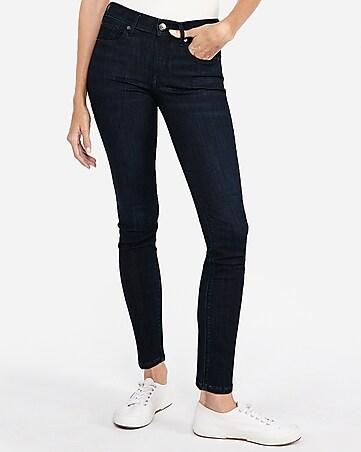 b6cde9c9517 mid rise dark wash super skinny jeans