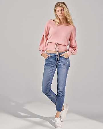 mid rise original girlfriend jeans
