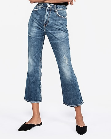fed2bec174efc Express View · high waisted original vintage cropped flare jeans