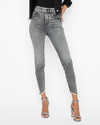 petite super high waisted denim perfect stretch+ cropped leggings