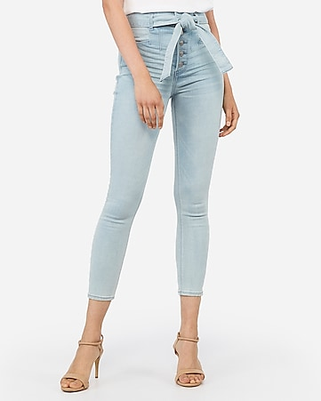 high waisted light wash cropped denim perfect jean leggings