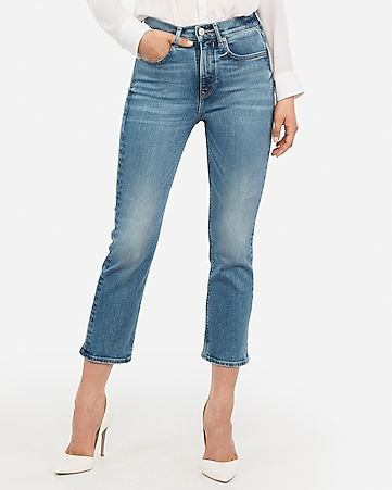 super high waisted original straight cropped jeans