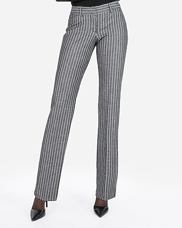 96eb901a0f3 Express View · low rise barely boot ticking stripe editor pant