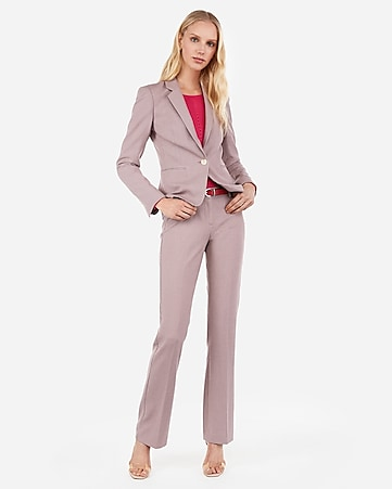 78e9ebfcb58 Pink Tweed Barely Boot Columnist Pant Suit