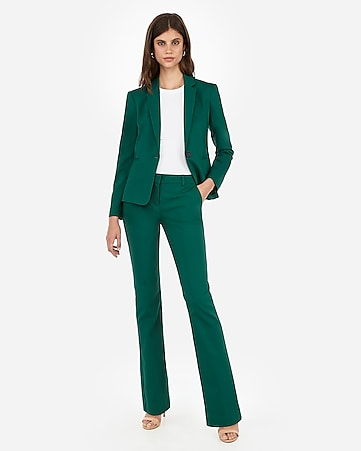 3cbe70857a2 Green Barely Boot Columnist Pant Suit