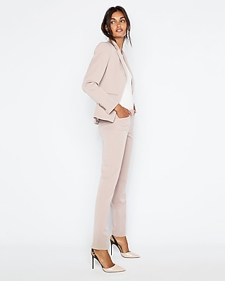Fawn Barely Boot Editor Pant Suit by Express