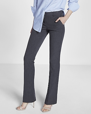 Mid Rise Heathered Barely Boot Columnist Pant | Express
