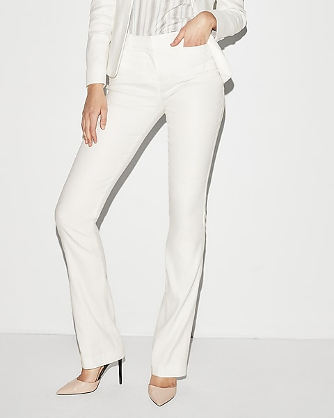 100% genuine limited style skilful manufacture Mid Rise Linen-blend Barely Boot Columnist Pant