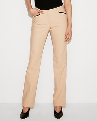 petite low rise piped barely boot editor pant