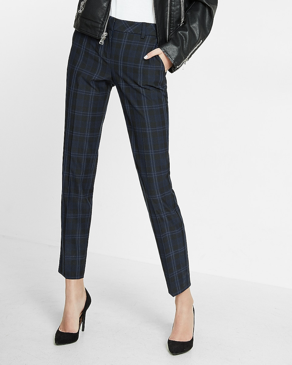 Women Ankle Columnist Dress Pants: Mid Rise | EXPRESS