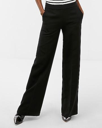Express View High Waisted Wide Leg Dress Pant