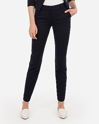 Petite mid rise piped ankle columnist pant