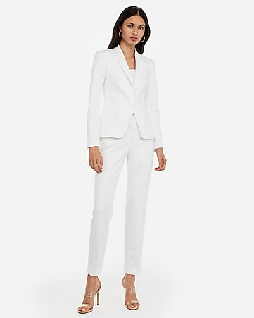 2e6bdfd61172 True White Seamed Ankle Pant Suit