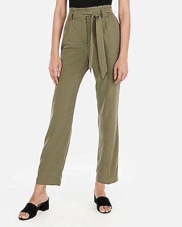 895d6961ceb6 High Waisted Sash Tie Ankle Pant