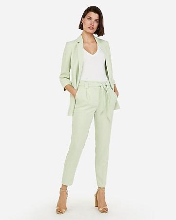 63021fb2b62 Mint Sash Waist Ankle Pant Suit