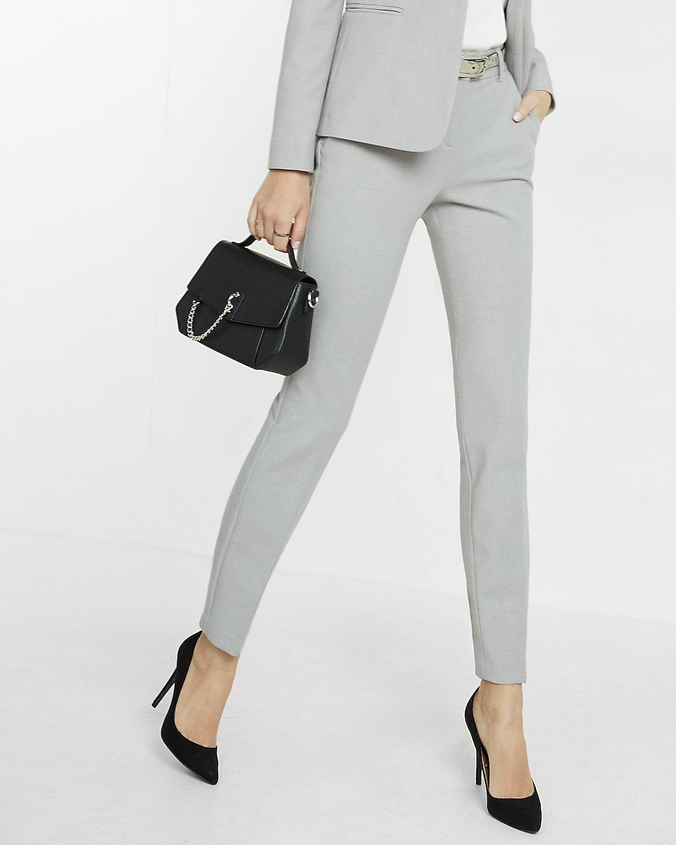 women s suits express view middot mid rise columnist ankle pant