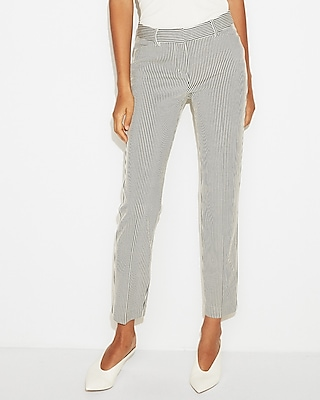 petite mid rise striped knit columnist ankle pant
