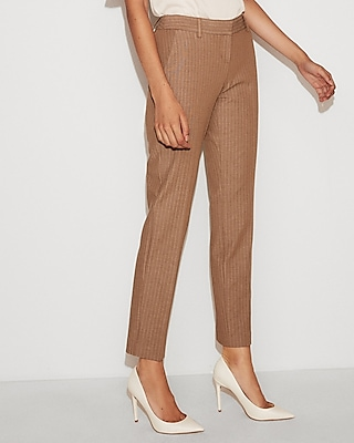 Low Rise Striped Columnist Ankle Pant by Express
