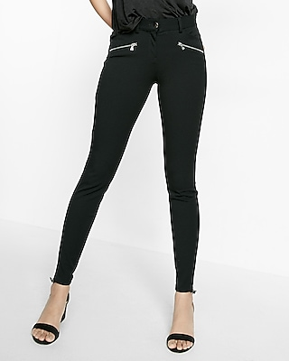 Zip Accent Skinny Pant