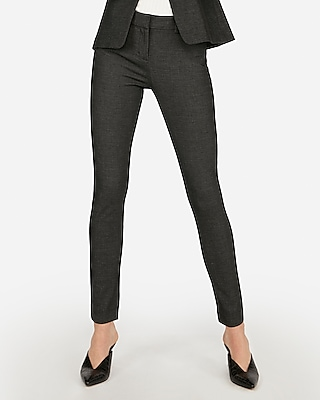 Express Womens Mid Rise Stretch Skinny Pant Black And White Women's 0 Black And White 0