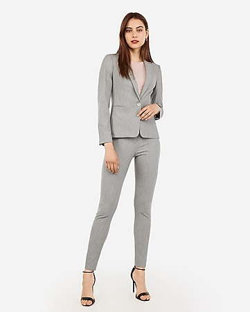 ad18faeae74 Light Gray Stretch Skinny Pant Suit
