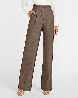 Vintage High Waisted Flowy Pants  Textured Pant