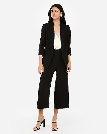 Womens Black Pant Suit uajR
