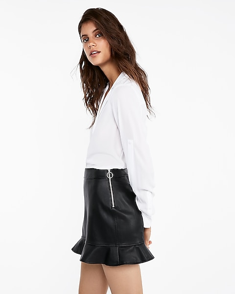 good selling new images of hot-selling newest (minus The) Leather Ruffle Hem Mini Skirt